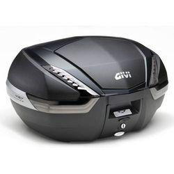 Kufer Givi V47NNT (czarny, 47 litrów, szare odblaski, pokrywa karbonowa)