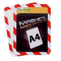 Kieszeń magnetyczna A4, 2 szt., czerwono-biała