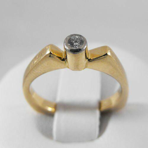 Pierścionki i obrączki, Złoty pierścionek z brylantem P1234
