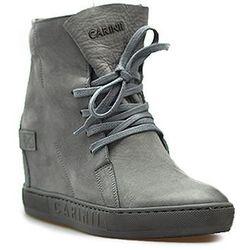 Sneakersy Carinii B3519/NS-J51 Szare nubuk