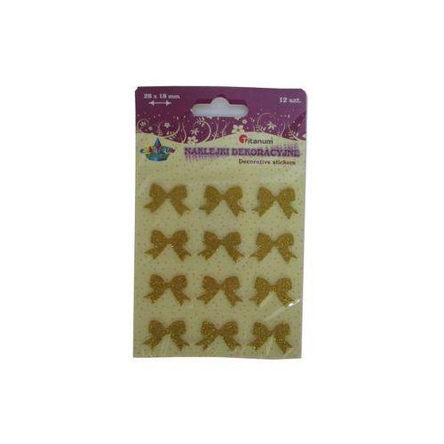 Naklejki, Zestaw dekoracyjny - naklejki kokardki złote. 339424. - Titanum