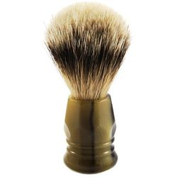 100% BORSUK SILVER TOP - pędzel do golenia z UCHWYTEM - brązowo-oliwkowy agat - SOLINGEN-Kiehl