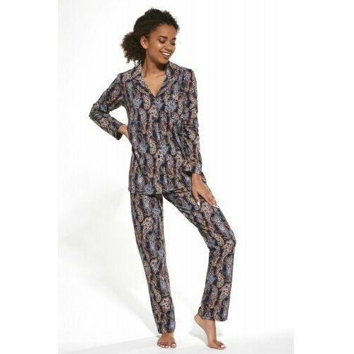 Piżamy damskie, Bawełniana piżama damska Cornette 482/264 Aline granatowa