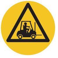Oznakowanie informacyjne i ostrzegawcze, Piktogram z PCV,uwaga wózek widłowy, opak. 2 szt.