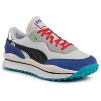 Męskie obuwie sportowe, Sneakersy PUMA - Style Rider Ride On 37283901 01 P.White/Dass Blue/Hogh Rise