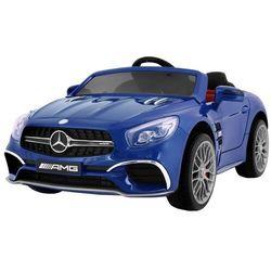 Duży samochód dla dziecka mercedes sl65 amg niebieski lakier metalik