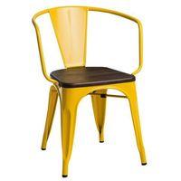 Krzesła, Krzesło Paris Arms Wood żółte sosna szcz otkowana MODERN HOUSE bogata chata