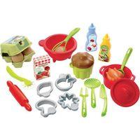 Pozostałe zabawki, ECOIFFIER Akcesoria do kuchni 26 elementów