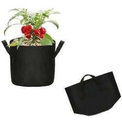 Doniczka materiałowa 6l growbag donica ekologiczna, oddychająca czarna