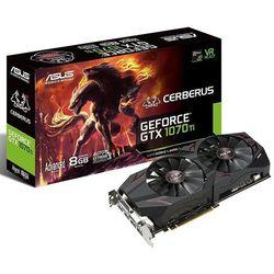 Karta VGA Asus CERBERUS GTX1070 Ti 8GB GDDR5 DVI+2xHDMI+2xDP PCIe3.0