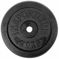 Stalowe obciążenie talerz do sztangi 30mm inSPORTLine Blacksteel 20 kg