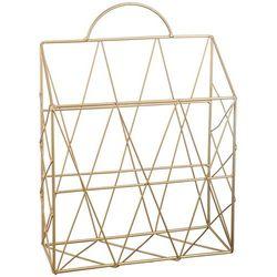 Organizer, stojak na prasę, dokumenty, wykonany z metalu, kolor złoty, waga 360 g, solidna konstrukcja, wymiary 35.5x25.5x9.5 cm