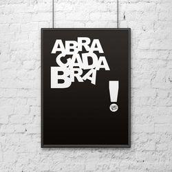 Plakat dekoracyjny 50x70 cm 89 ABRACADABRA czarny by DekoSign