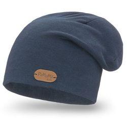 Przedłużana czapka bawełniana dla dzieci PaMaMi - Jeansowy - Jeansowy