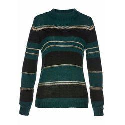 Sweter z lureksową nitką, długi rękaw bonprix indygo-srebrny