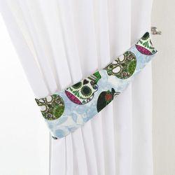 Dekoria Podwiązka Victoria, zielone czaszki na błękitnym tle, 12 × 70 cm, Freestyle do -30%