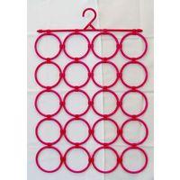 Artykuły do ekspozycji w sklepie, Panel (20 elementów) wieszaków do prezentacji apaszek, szalików itp. - kolor