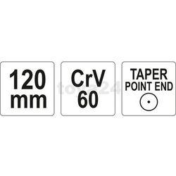 Dobijak punktak - 120mm Yato YT-4692 - ZYSKAJ RABAT 30 ZŁ