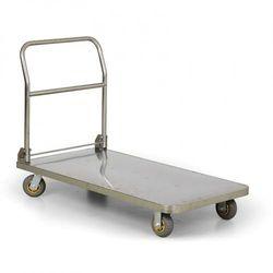 Składany wózek platformowy ze stali nierdzewnej, 1200x600 mm, nośność 600 kg