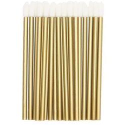 Aplikator kosmetyczny 50szt - Brokat złoty