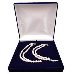 Kolczyki wiszące z białych pereł podwójne 21 cm i 14,5 cm PKW52-B