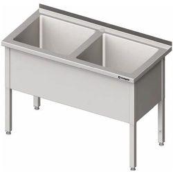 Stół z basenem dwukomorowym 1500x600x850 mm   STALGAST, 981406150