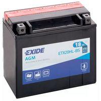 Akumulatory do motocykli, Akumulator motocyklowy EXIDE ETX20HL-BS/ YTX20HL-B 12V 18Ah 270A EN P+