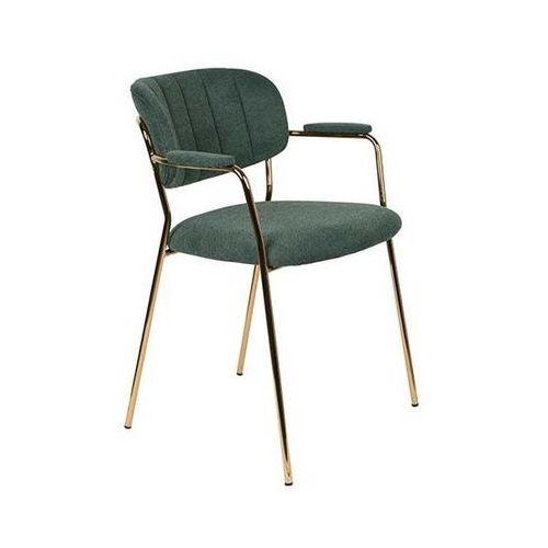 Fotele i krzesła biurowe, Orange Line Fotel JOLIEN ARM złoty/ciemno zielony 3100128