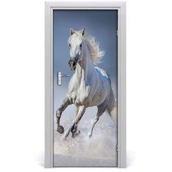 Naklejka samoprzylepna na drzwi koń w galopie