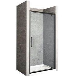 Drzwi prysznicowe z czarnym profilem 100 cm Rapid Swing Rea UZYSKAJ 5 % RABATU NA ZAKUP