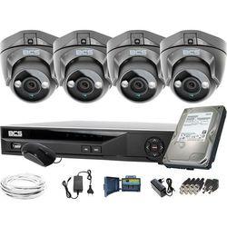 ZM11950 4 kamery zewnętrzne wewnętrzne BCS-DMQE1500IR3-G BCS-XVR04014KE-II 1TB