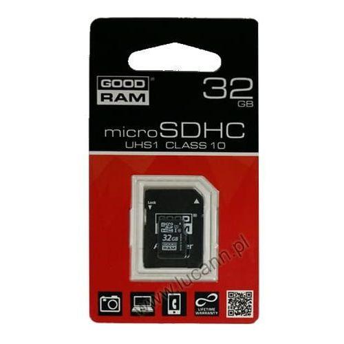 Karty pamięci, Karta pamięci microSD GOODRAM 32GB CL10 UHS-I