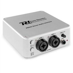 Power Dynamics PDX25, interfejs audio stereo, z oprogramowaniem Audacity