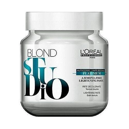 Farbowanie włosów, Loreal Blond Studio Platinium Pasta rozjaśniająca bez amoniaku 500g