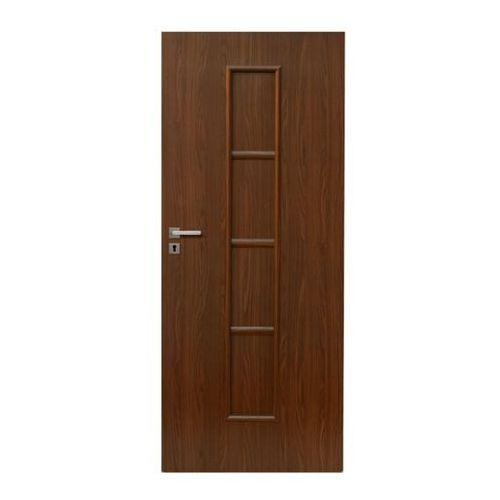 Drzwi wewnętrzne, Drzwi pełne Olga 90 prawe orzech