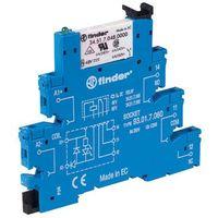 Pozostała elektryka, Przekaźnikowy moduł sprzęgający 2P 8A 220-240V AC/DC 14mm styki AgNi 38.52.0.240.0060 FINDER