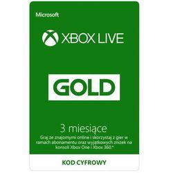 Kod aktywacyjny MICROSOFT Xbox Live Gold 3 miesiące