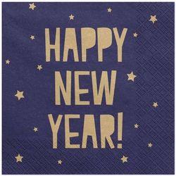 """Serwetki """"Happy New Year"""", granatowe, 33 cm, 20 szt"""
