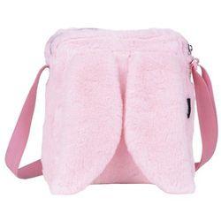 Torebka pluszowa z uszami różowa