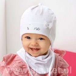 Komplet ajs 42-013 czapka+chustka rozmiar: 44-46cm, kolor: wielokolorowy, ajs