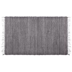 Chodnik dywanowy z bawełny, szary dywan, dywan pleciony, dywan do przedpokoju, dywany naturalne, modne dywany, kilimek, kobierczyk