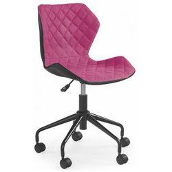 Fotel obrotowy dla dziewczynki Kartex - różowy