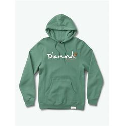 bluza DIAMOND - Paradise Og Script Hoodie Alpine Green (AGN) rozmiar: L