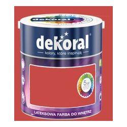 Farba Lateksowa Akrylit W Kolor Czerwień Pompei 2.5l Dekoral