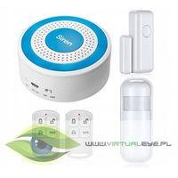 Zestawy alarmowe, Bezprzewodowy alarm + 2 czujki + syrena VS-109