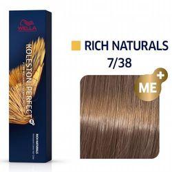 Wella Koleston Perfect ME+   Trwała farba do włosów 7/38 60ml