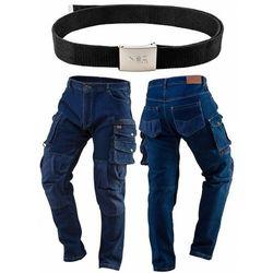 Spodnie robocze DENIM wzmocnienia na kolanach rozmiar XXL 81-228-XXL