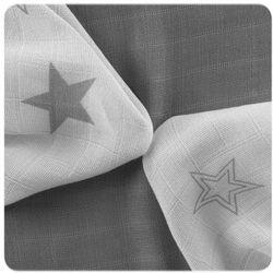 XKKO chusteczki bambusowe Stars 30x30 cm, 9 szt 28 x 39 cm Grey