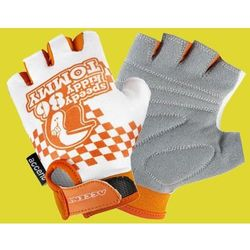Rękawiczki dziecięce Accent Tommy biało-pomarańczowe S/M