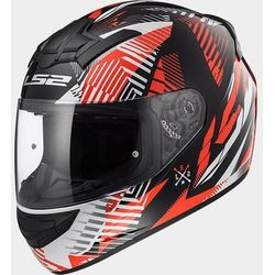 KASK LS2 FF352 ROOKIE INFINITE WHITE-BLACK-RED